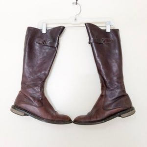Davos Gomma Brown Riding Boots Made in Italy